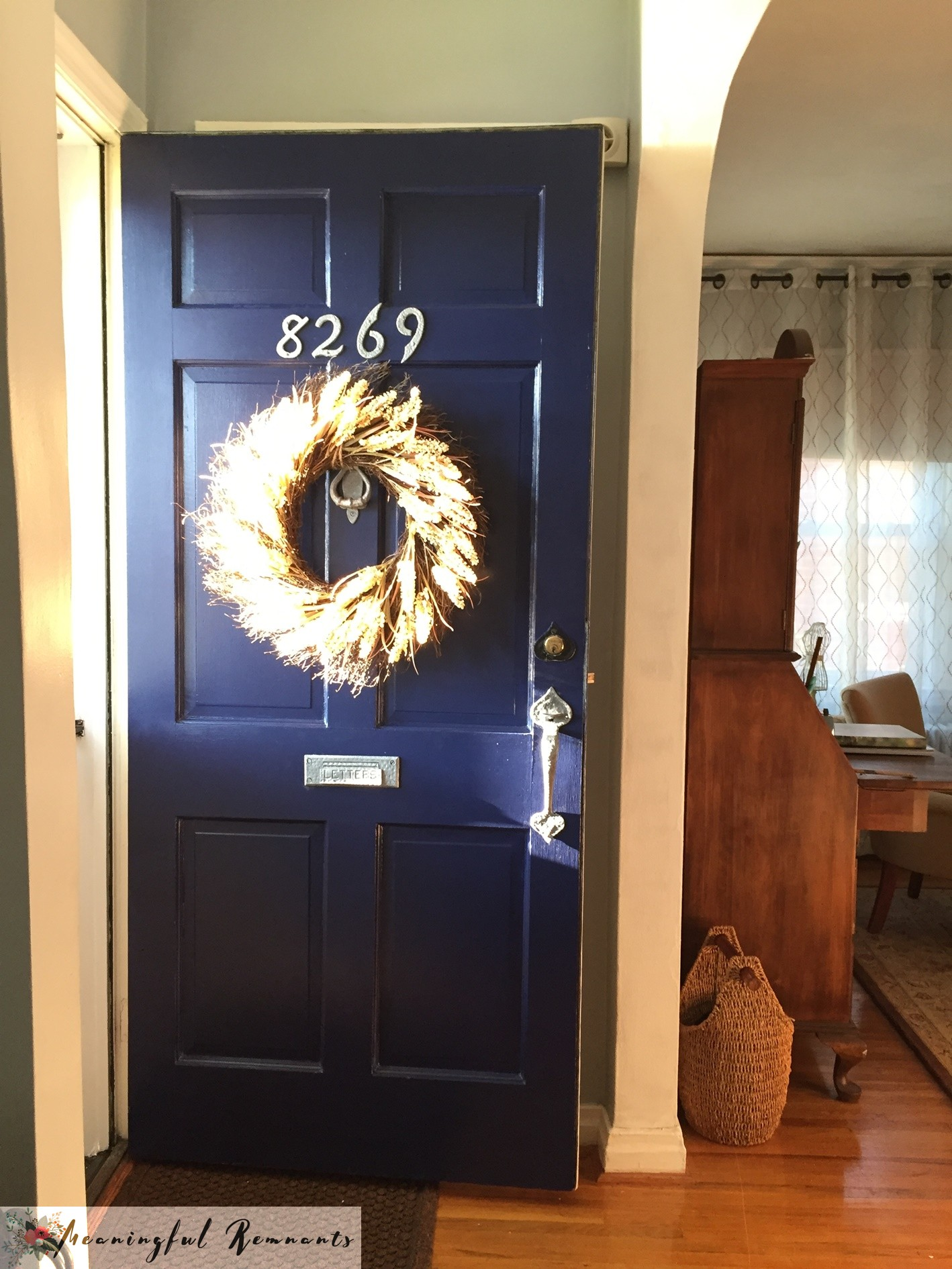 Navy Blue painted front door