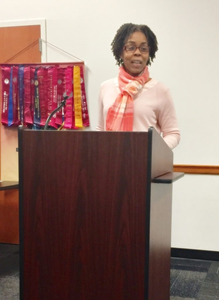 Toastmaster at the podium